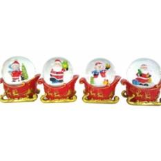 Новогодняя декоративная фигурка в стеклянном шаре Сани