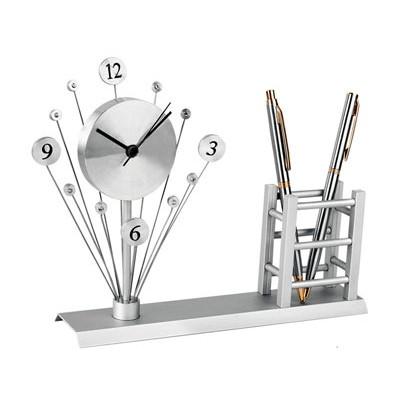 Часы настольные с подставкой под ручки