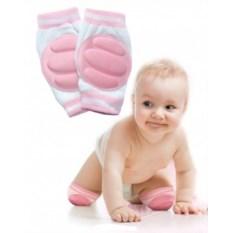 Розовые детские наколенники для ползания