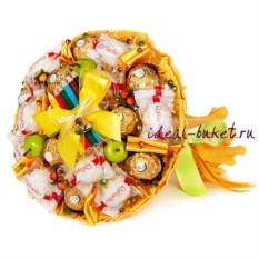Букет конфет Школьный (25x30 см, карандаши сложены)