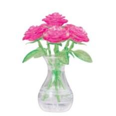 3D головоломка Букет в вазе розового цвета