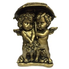 Декоративная фигура Золотые ангелочки под зонтом