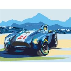 Картины по номерам «Ретро-автомобиль Cobra»