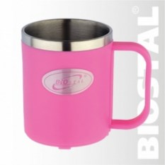 Розовая термокружка Biostal