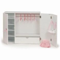 Деревянный гардероб для куклы 46см