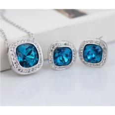 Комплект с синими кристаллами Сваровски «Космос»