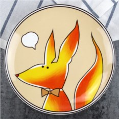 Прикольная тарелка Лиса