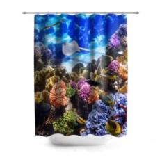 3D-штора для ванной Морское дно
