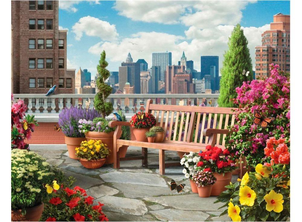 Картины по номерам «Сад на крыше»