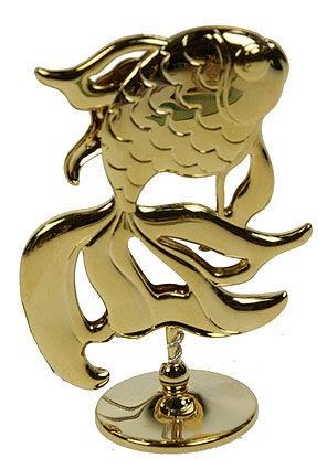 Фигурка декоративная Swarovski Золотая рыбка