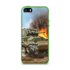 Силиконовый глянцевый чехол для Apple iPhone 5S Танк