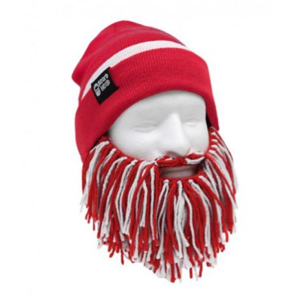 Шапка с бородой Tailgate-Barbarian, красно-белая