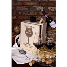 Подарочный набор бокалов с гравировкой Любовь как вино
