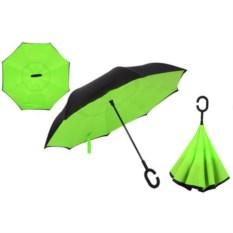 Яркий зеленый зонт-наоборот