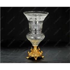 Хрустальная ваза для цветов Парадная