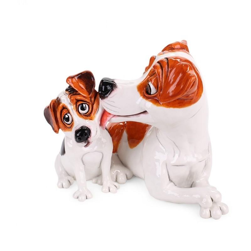 Фигурка Джек-рассел и щенок