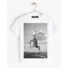 Детская футболка «Зебра на воздушном шаре»