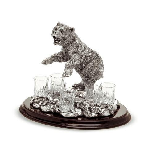 Набор для водки Медведь - суровый характер