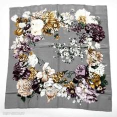 Шелковый платок, серый