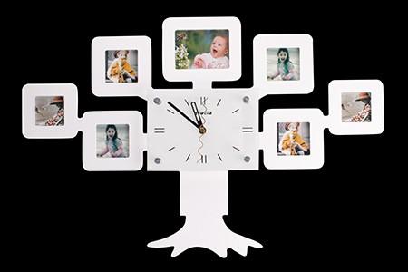 Часы с фоторамками «Семейное дерево»