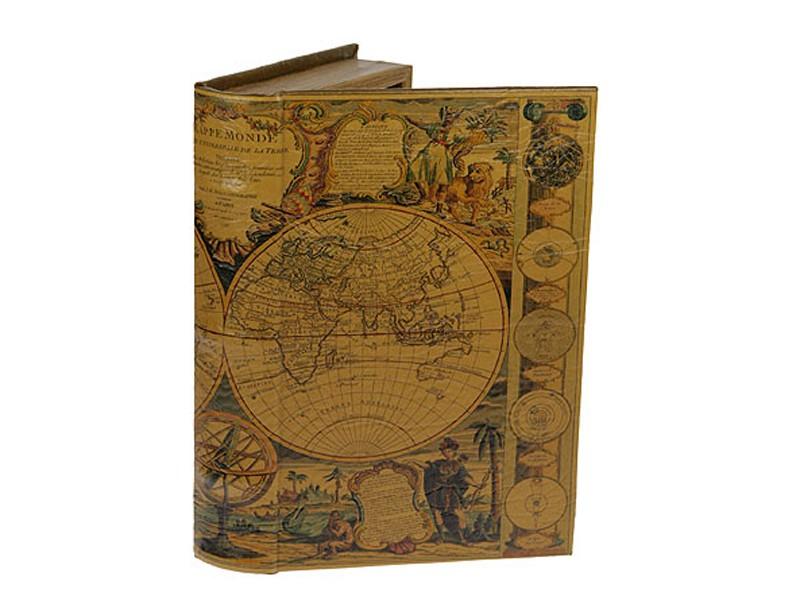 Шкатулка-книга Карта мира XVII века