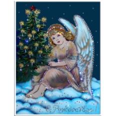 Картина с кристаллами Swarovski Рождественский ангел