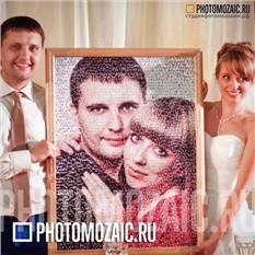 Фотомозаика в подарок на свадьбу
