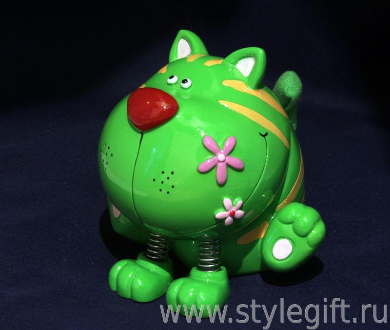 Копилка Зеленый кот