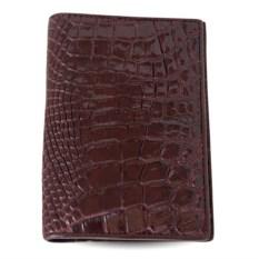 Коричневая обложка на паспорт из крокодила