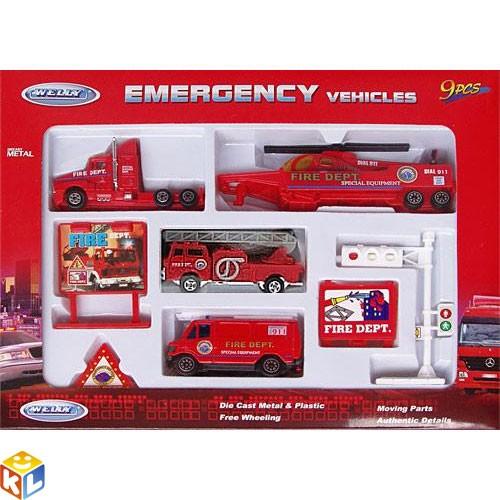 Набор машин  Служба спасения - пожарная команда
