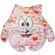 Мини подушка-игрушка Котик I love you