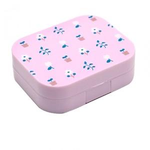 Контейнер для контактных линз Printed cotton − Pink