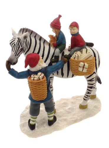 Фигурка Санта и зебра Scandinavian Christmas