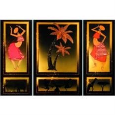 Картина Swarovski Знойная Африка (триптих)