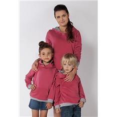 Комплект розовых толстовок Barbados для мамы и ребенка