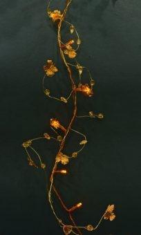 Электрическая гирлянда «Цветы», 20 LED, золотое свечение