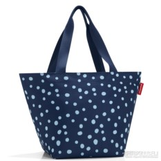 Сумка Shopper m spots navy