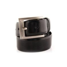 Черный мужской кожаный ремень тип 85-6