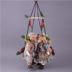Набор из 2-х фарфоровых кукол с мягконабивным туловищем