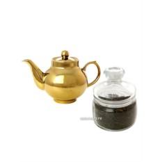 Подарочный набор из чайника под золото с копорским чаем