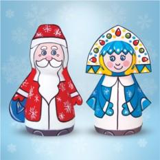 Набор для творчества из папье-маше «Дед Мороз и Снегурочка»