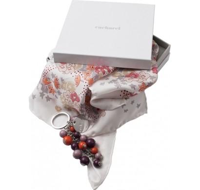 Женский подарочный набор (платок, брелок)