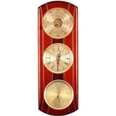 Настенные вертикальные часы с барометром