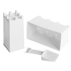 Белый набор для лепки замков из снега и песка