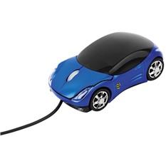 Оптическая мышка в форме автомобиля с подсветкой фар, синяя
