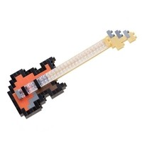 Мини-конструктор Nanoblock Басс-гитара, 140 элементов