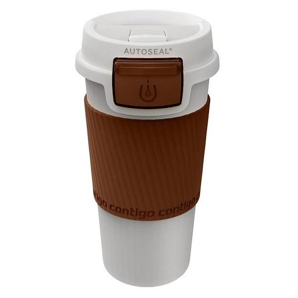 Термостакан Morgan Coffee, кремовый с коричневым