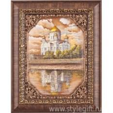 Панно-гравюра Храм Христа Спасителя