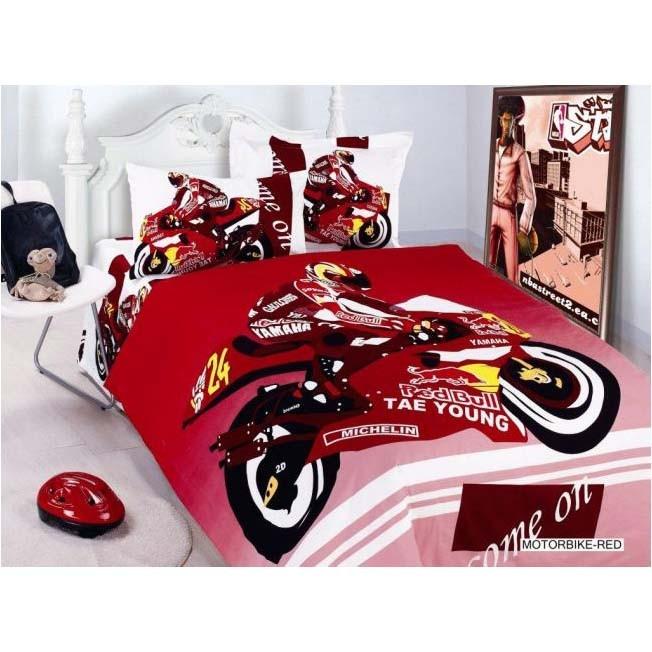 Детское постельное бельё MOTORBIKE-RED