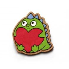 Значок WafWaf Динозаврик любви
